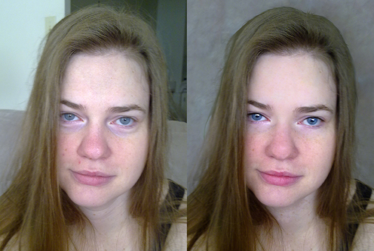 Photo Touch Up Image - Puffy Eyes, Pimples, Background